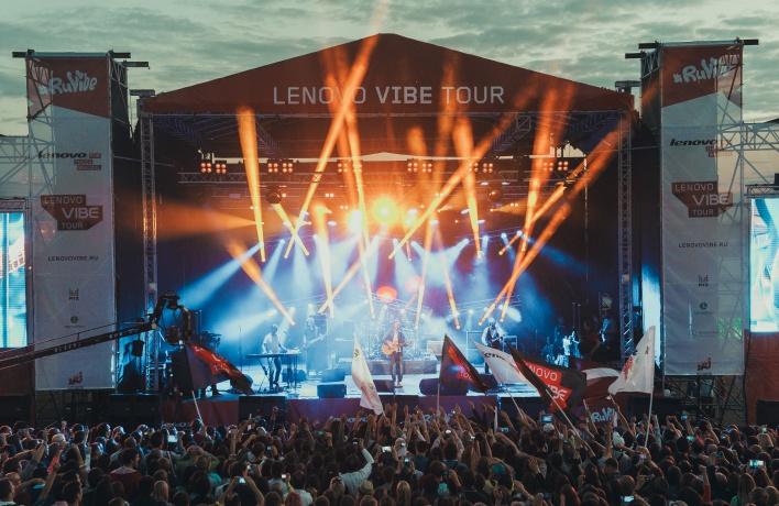 Компания Lenovo проводила лето масштабным фестивалем Lenovo Vibe Tour