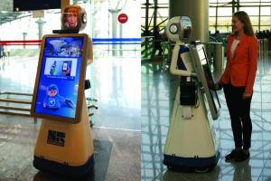 Во Внуково появился дружелюбный робот Леночка