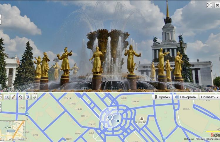 На «Яндекс.Картах» появились панорамы ВДНХ