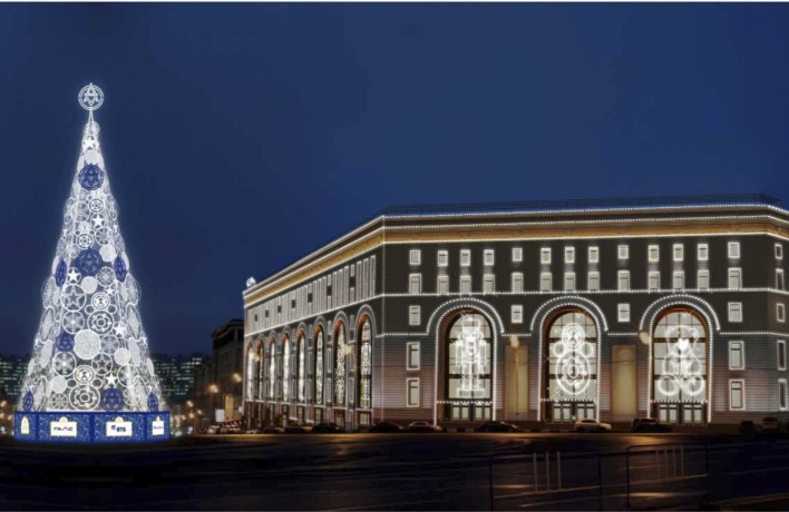 К Новому году город оформят зеркальными елями и световыми фонтанами