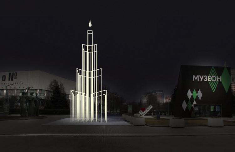 В «Музеоне» поставят дизайнерскую елку-лабиринт