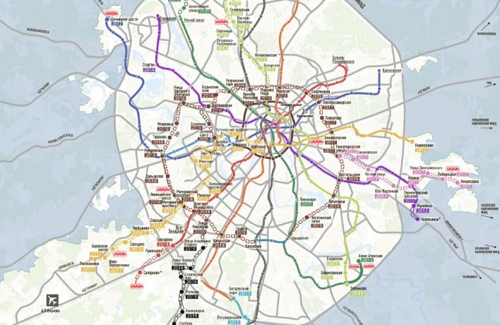 Появилась официальная карта метро будущего