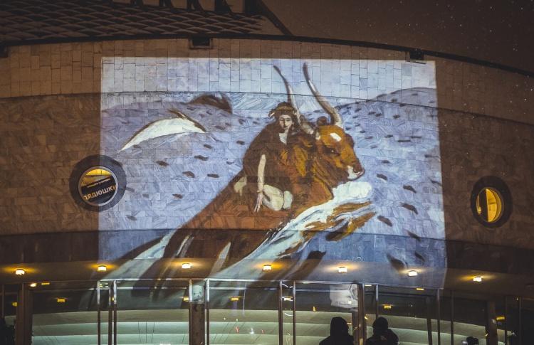 Шедевры Третьяковки спроецируют на фасад здания на Крымском валу