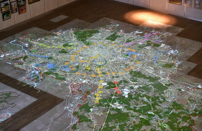 Появилась огромная интерактивная карта Москвы