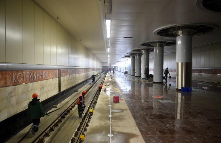 Станцию метро «Котельники» откроют через пару месяцев