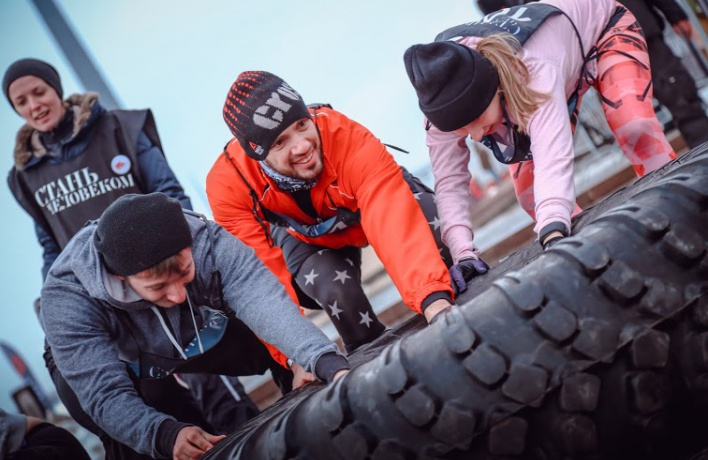 Участники гонки Reebok «Стань человеком» проверили себя на прочность