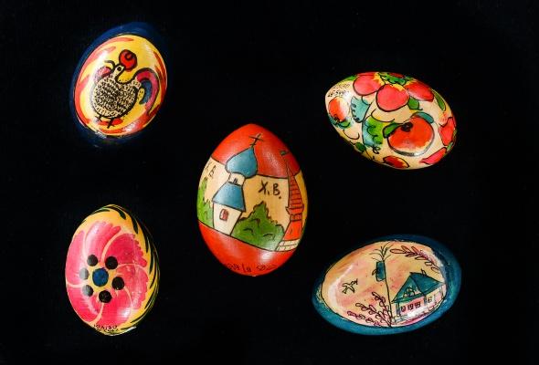 Выставка деревянных пасхальных яиц XIX - XXI вв.  - Фото №1