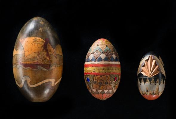 Выставка деревянных пасхальных яиц XIX - XXI вв.  - Фото №0