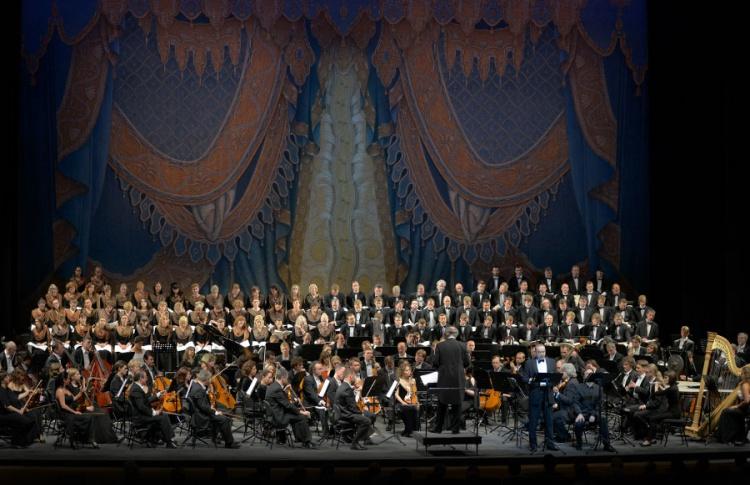 Хор, детский хор и симфонический оркестр Мариинского театра