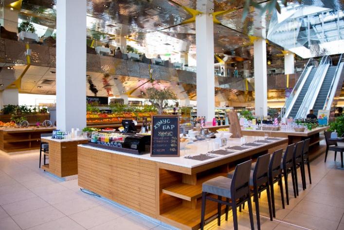 В «Цветном» появился хумус-бар