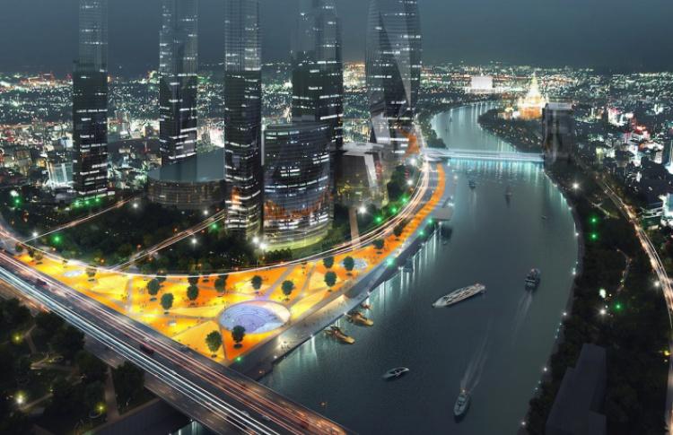 В Москве-Сити появятся пешеходные зоны и парки