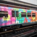 В метро запустили поезд, выкрашенный по рисункам пассажира