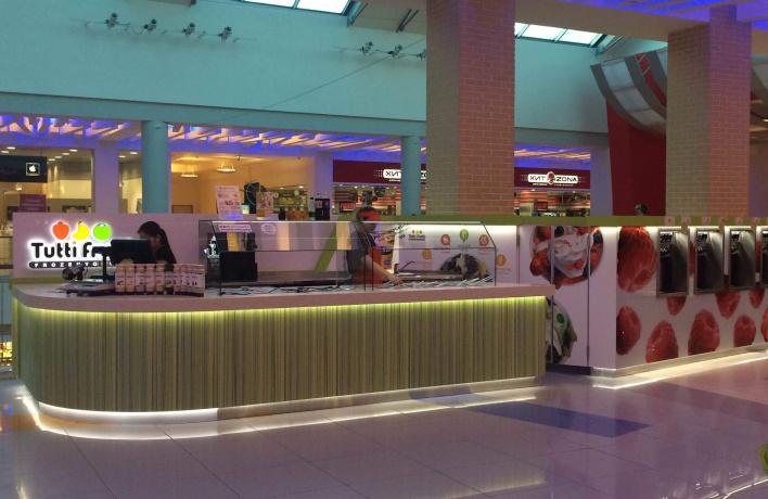 Новый островок Tutti Frutti Frozen Yogurt открылся в ТЦ «Метрополис»
