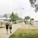 На набережной в Нагатинском затоне откроют яхт-клуб и пляж
