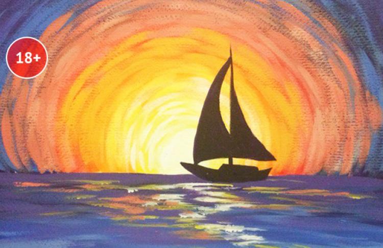 Арт-вечеринка Artistnight «Кораблик в контражуре» (скидка 56%)