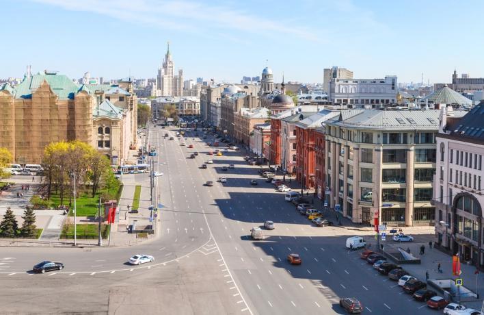 В центре Москвы появилась первая зона «спокойного движения»