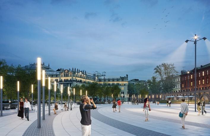 На площади Революции поставят фонари и высадят липовую аллею