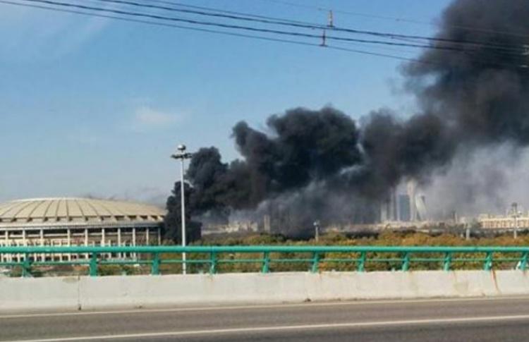 На стадионе «Лужники» горели стройматериалы