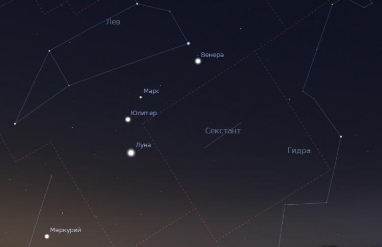В субботу начнется Малый парад планет