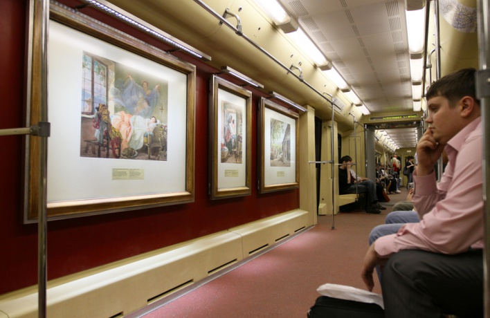 В метро запустят поезд с редкими рисунками путешественников