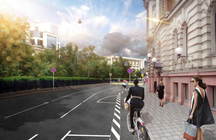 Велодорожку на Бульварном кольце снова откроют весной