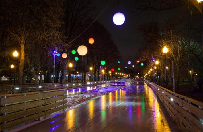 Каток в Парке Горького откроют 13 ноября