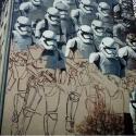 На Красных воротах дорисовывают граффити, посвященное «Звездным войнам»