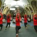 В Москве прошла «Ночь йоги в метро»