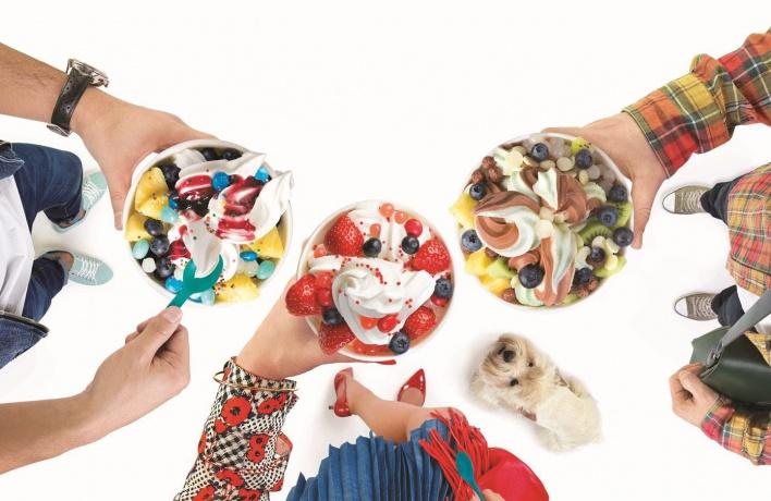 Имбирное печенье в Tutti Frutti Frozen Yogurt 