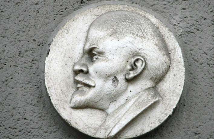 На Сухаревке украли барельеф Ленина