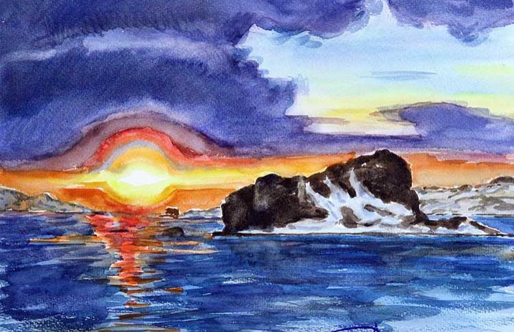 Выставка «Краски белых горизонтов»