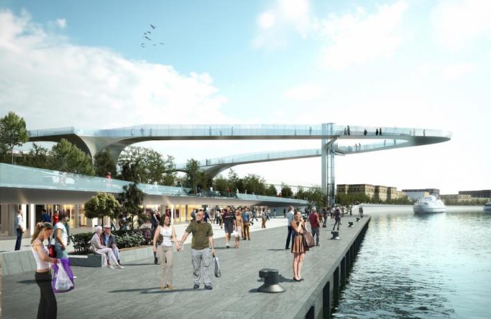 «Парящий мост» в Зарядье начнут строить уже в этом году