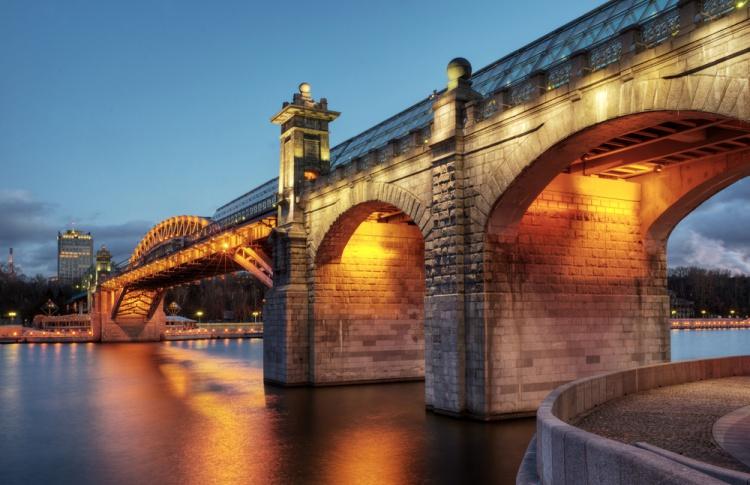 Опубликована полная карта московских мостов