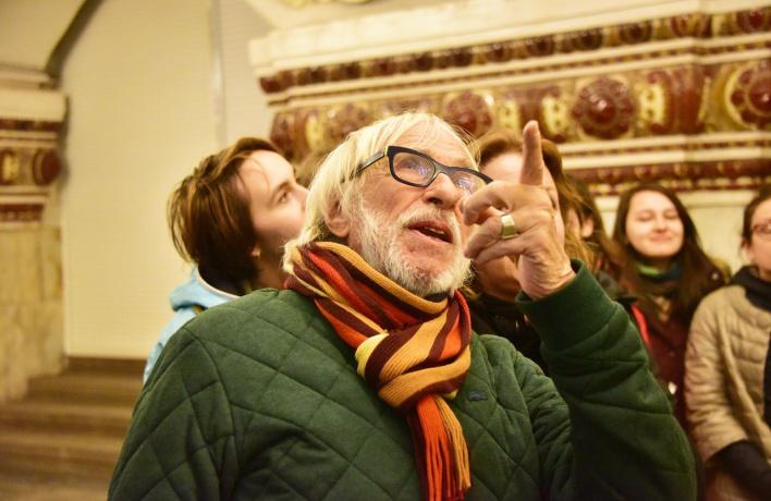Пьер Ришар прокатился ночью в московском метро и остался доволен