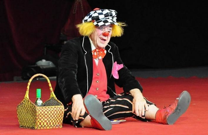 Гастроли легендарного клоуна Олега Попова в цирке Чинизелли