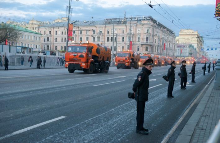 Центральные улицы перекроют 23  февраля