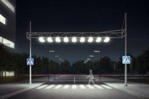 На дорогах планируют установить воздушные зебры