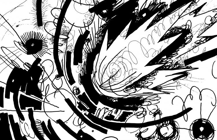 Тотальная инсталляция Протея Темена «Как муравей космонавту в ухо залез»