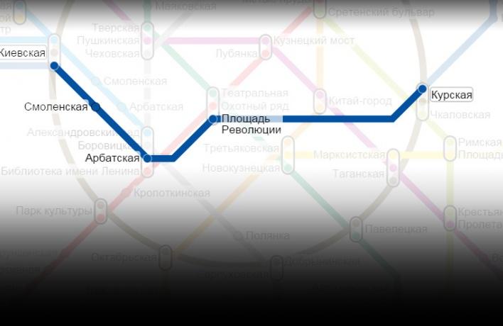 Участок «синей» ветки метро от Курской до Киевской в субботу закроют на ремонт