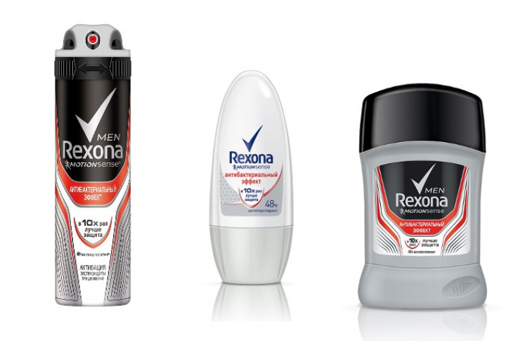 Rexona Антибактериальный эффект: устраняет причину, а не следствие