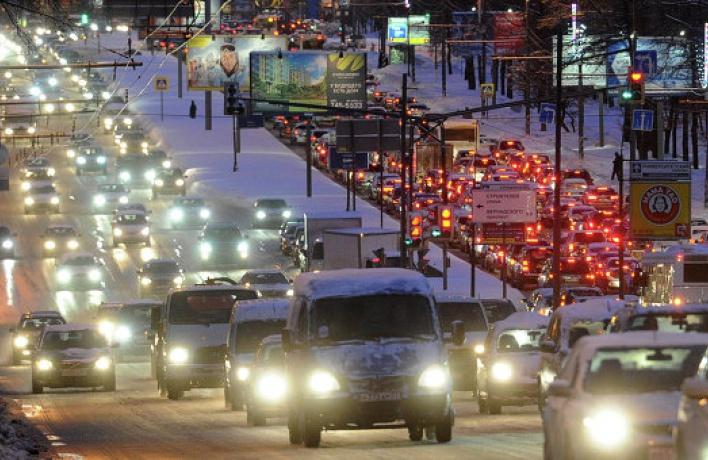 Вечером ожидается загруженность дорог в 9 баллов