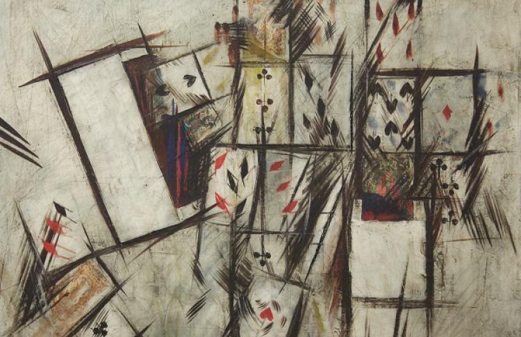Выставка Владимира Немухина в музее актуального искусства
