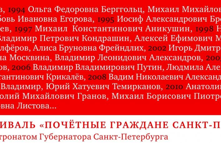 Кто станет почетным гражданином Санкт-Петербурга в 2016 году?