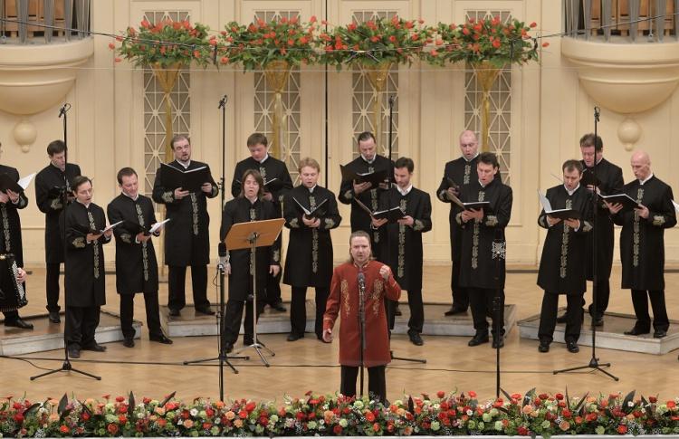 Выступление хора Валаамского монастыря