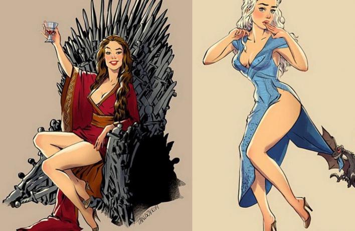 На Солянке покажут героинь «Игры престолов» в стиле pin-up