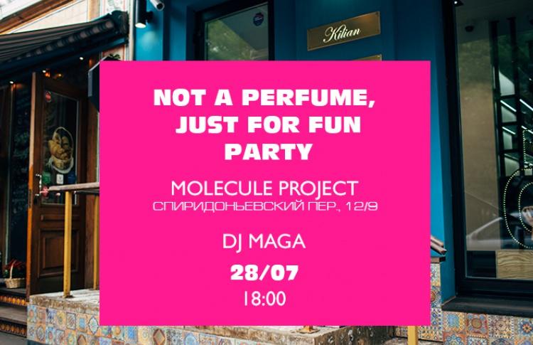 Проект MOLECULE устраивает летнюю вечеринку «Not a perfume, just for fun!»