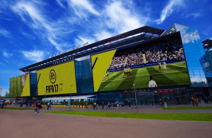 FIFA 17 на экранах размером с пятиэтажный дом