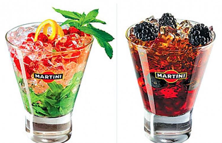 Fashion-коктейли от барменов Martini