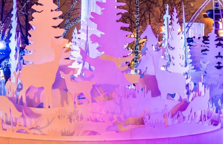 На Пушкинской площади появится световая инсталляция в виде леса
