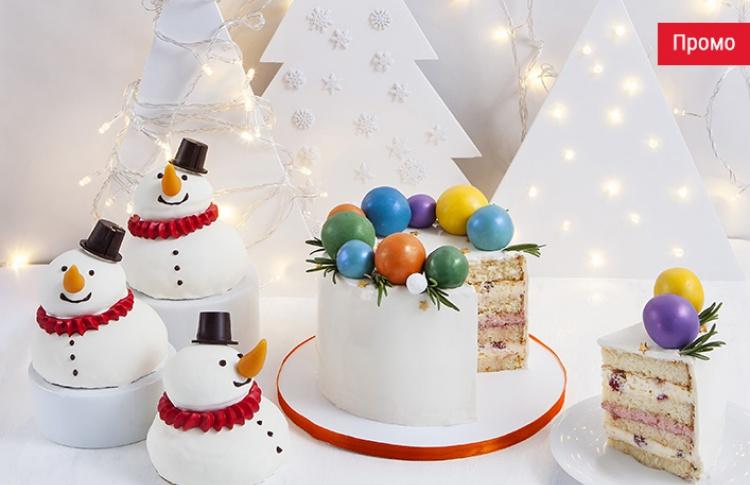 Новогодние десерты и блюда в Кофемании